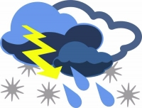 Inclement weather clip art SMALL